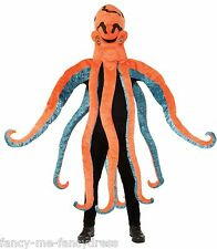 Mens Ladies Orange Sea Octopus Animal Stag Hen Do Fancy Dress Costume Outfit