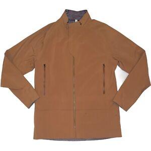 Lululemon Reversible Palindro Jacket Purple Tan Waterproof MISSING HOOD  L