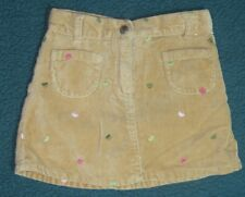 Gymboree Gingerbread Girl Tan Velvet Heart Skirt Size 4