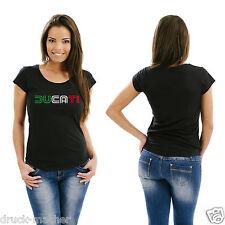 Señora T-Shirt ducati tricolore-talla xs-xl kultig!!!