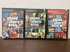 Grand Theft Auto PS2 Games Lot Of 3 Vice City San Andreas GTA 3 PlayStation 2