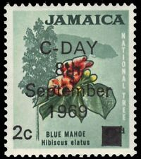 """JAMAICA 280 (SG281) - Introduction of Decimal Currency """"Blue Mahoe"""" (pa89948)"""