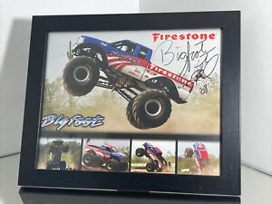 """2008 """"Bigfoot"""" Ford Monster Truck Firestone Framed Picture Autographed 12x10"""
