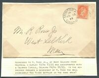 CANADA SMALL QUEEN COVER MONTREAL TO SELKIRK, MANITOBA