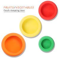 4pcs Food Huggers Reusable Silicone Food Savers Fruit Vegetable Fresh Saver OK