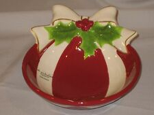 "ST. NICHOLAS SQUARE BOWL ""HOLLY JOLLY"" PATTERN"