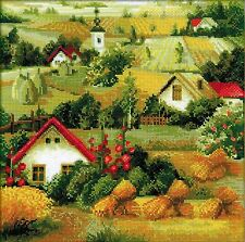 RIOLIS  1569  COUNTED  CROSS STITCH  KIT  SERBIAN  LANDSCAPE