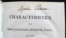 1790 Earl Shaftesbury Treatise SIGNED by Sophie Potocka Polish Countess