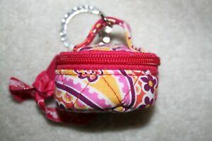 VERA BRADLEY Quilted Key Chain Mini purse  TUTTI FRUTTI red PAISLEY