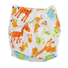 Newborn Baby Alva Cloth Diapers Reusable Washable Flip Covers Giraffe Snap Nappy