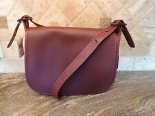 NWT COACH Glovetanned Leather Saddle Bag,Classic Dark Burgundy,Bordeaux,New $395