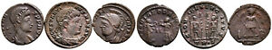 Group of 3 Roman Ae3 Folles #RB 7859