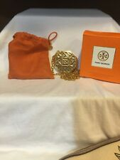 Tory Burch Solid Perfume Pendant Necklace NIB WITH POUCH