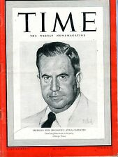 Time Magazine December 9 1940 Avila Camacho VG NO ML 093016jhe