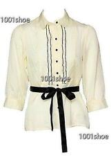 Jacqui E 3/4 Sleeve Button Down Shirt Regular Women's Tops & Blouses