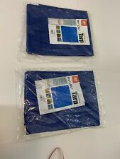 Two Blue  Weather Resistant Light Duty Tarps 5 ft. 6 in. x 7 ft. 6 in. New