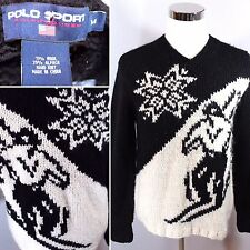 VTG 90S POLO SPORT RALPH LAUREN Sweater Hand Knit Alpaca Wool Blend Mens sz M