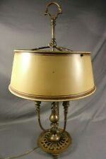 "Antique Bronze French Bouillotte Lamp Circa 1910 28"" Desk Rewired Great Form"