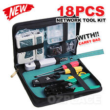 Analyzer Network Cable Tool Kit LAN Crimper Punch Down Wire Stripper Cat5 6 RJ45