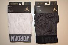 Lot of 2 Nike Air Jordan Briefs DRI-FIT Small (29-32) Mens Boxers White & Grey