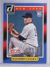 2014 Donruss The Rookies Press Proof Masahiro Tanaka Rookie #D194/199 #18 *64881