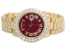 18K Mens Yellow Gold Rolex President 36MM 18038 Day-Date Diamond Watch 25.95 Ct