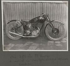 VINTAGE PHOTOGRAPH 1930'S DIRT-TRACK RACE/RACING MOTORCYCLES GERMANY OLD PHOTO