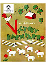 Vintage 1940s wartime crochet patterns-'victory' farmyard animals, pig.cow etc
