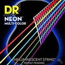 DR Strings NMCA-11 Multicolor Neon Medium Lite Acoustic Guitar Strings (11-50)
