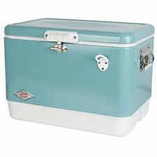 Vintage Coolers Steel-Belted Portable With Bottle Opener, 54 Quart, Turquoise