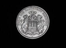 3 Mark Freie und Hansestadt Hamburg 1911 J Silber Kaiserreich