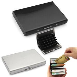 Boîtier de carte de crédit en acier inoxydable en titane noir et boîtier YCS
