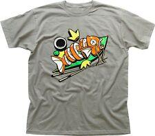 Pokemon Magikarp Sushi Funny Chopsticks Zinc Heather printed cotton t-shirt 9691