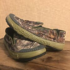 Under Armour Spike Camp Camo Shoes Canvas Slip Ons 1254910 $55 Size 8