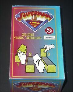 1996 Skybox Superman Sticker Box 100 packs ~ Panini Italy
