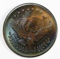 Silver Trade Unit. ONE TROY OUNCE. Monster Rainbow Toned Round