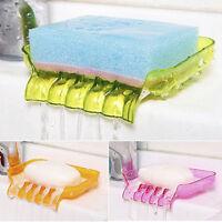 Suction Soap Dishes Sponge Holder Tray Storage Rack Bathroom Kitchen Supplies