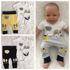 NEU Baby Jungen Set Kurzarm Shirt T-shirt Hose Gr. 56 62 68 74 0-3-6-9- Monate