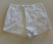 Junior Women's Red Paint White Corduroy Cotton Shorts 11/12