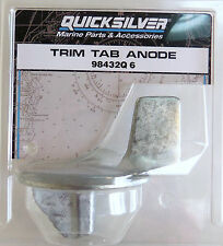 Trim Tab Anode - Mercury, Mariner, Force - 9.9 - 25 hp - Quicksilver 98432Q6