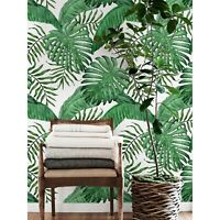 Removable wallpaper Tropical leaf Watercolor self-adhesive decor