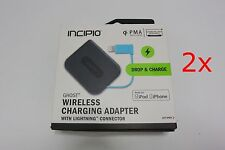 Lot of 2X Incipio Ghost Wireless Charging Adapter w/ iPhone Lightning Connector