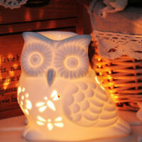 Ceramic Oil Burner Melt Wax Warmer Diffuser Tealight Candle Holder Hollow Owl