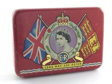 1953 Queen Elizabeth II Coronation Long May She Reign Souvenir Tin Montreal N489