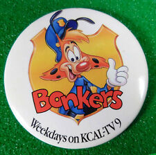 Disney Bonkers 1993 cartoon character Weekdays on KCAL TV 9 Cast Pinback Button