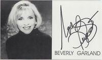 Picture card signed by actress ~ Beverly Garland