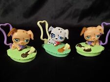 """Littlest Pet Shop *LPS* McDonald's Meal Toys or cake toppers 3 dogs on """"grass"""""""
