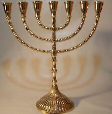 Jüdischer Kerzenleuchter Menorah Messing Chanukka Leuchter Chanukkaleuchter