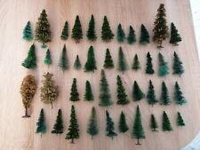H0 Konvolut Bäume Nadelbäume Tannen und Andere Bäume 42 Stk.