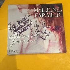 mylene farmer cd maxi  belle journée avec veritable dedicace de mylene et benoit